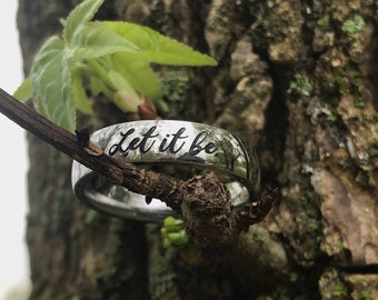 Initial Ring Name Ring Stainless Steel Ring Promise Ring for Him or Promise Ring for Her Cute Rings Gifts for Boyfriend Couple Rings