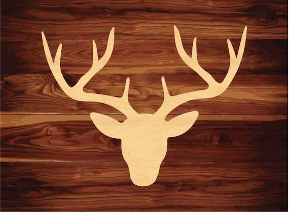 cerf en bois d coupe t te decor murale t te de chevreuil. Black Bedroom Furniture Sets. Home Design Ideas