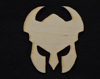 Spartan Sign or Gladiator Helmet Wooden Cutouts - Shapes for Projects or Other Use