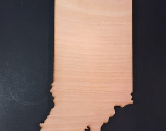 IN Indiana Wood Cutouts - Shapes for Projects or Other Use