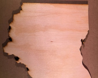 OH Ohio Wood Cutouts - Shapes for Projects or Other Use