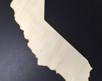CA California Wooden Cutouts - Shapes for Projects or Other Use