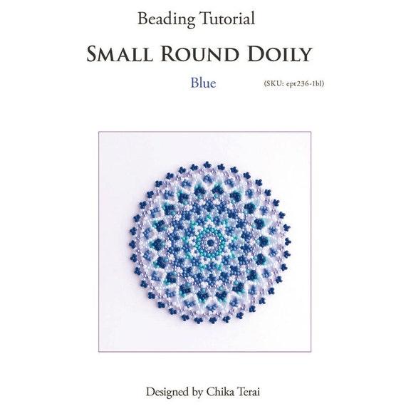 Pdf Beading Tutorial Blue Doily Bead Weaving Instructions Etsy