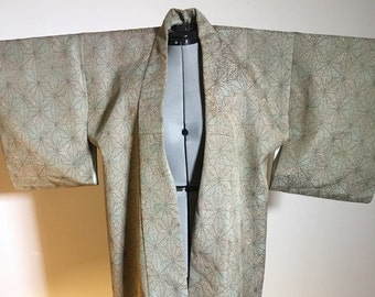 Vintage kimono 1950/60s Silk, beautiful and elegant.