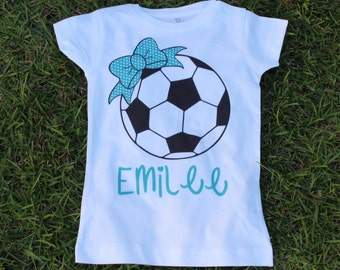 Personalized SOCCER Shirt - Toddler Shirt - Girls or Boys Available - GAME  DAY - Show spirit 05fc2e3d7