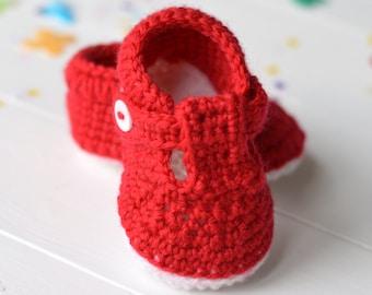 CROCHET PATTERN Baby Shoes T-Bar Baby Sandals for Baby Boy Baby Girl Crochet Booties Easy Crochet Tutorial Instant Download