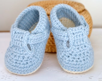 CROCHET PATTERN Baby Shoes Classic T-Bar Shoes for Baby Boys and Girls Photo Tutorial Baby Booties Digital file Instant Download