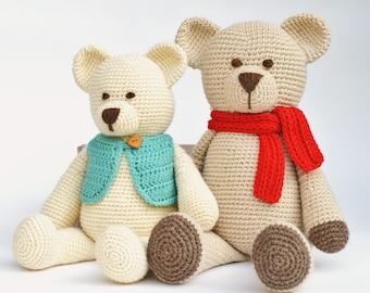 Crochet Pattern Bear Amigurumi Pattern Classic Teddy Bear Pattern Bertie Bear PDF Digital File Instant Download