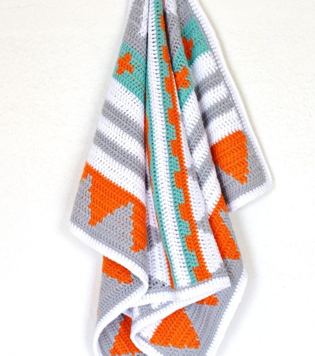 Crochet Pattern Baby Blanket Native American Style Afghan   Etsy