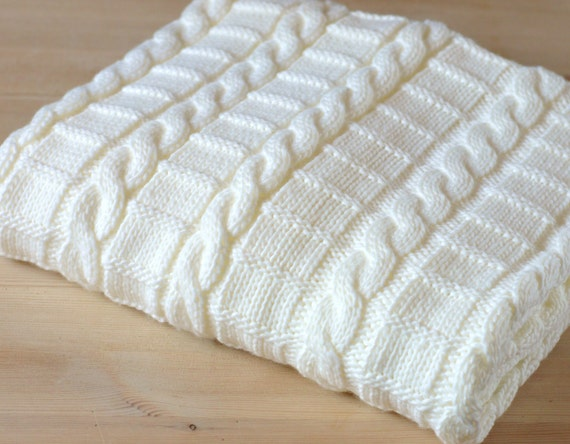 Easy Knitting Pattern For Baby Blanket Instructions For 3 Etsy