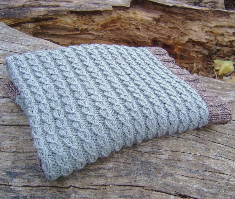 Knitting Pattern Baby Blanket Easy Mock Cable Blanket Digital Etsy
