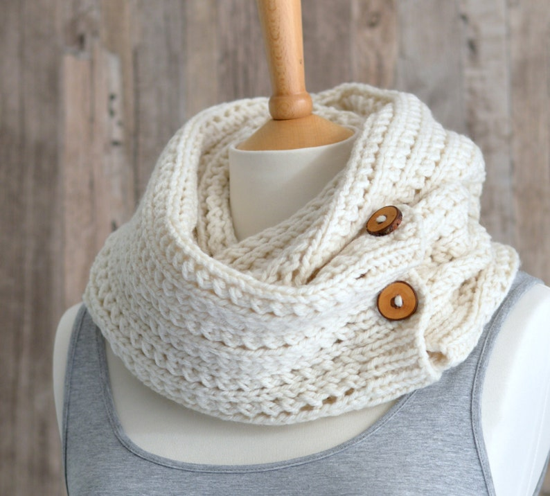 KNITTING PATTERN Infinity Scarf Easy Scarf Pattern Chunky ...