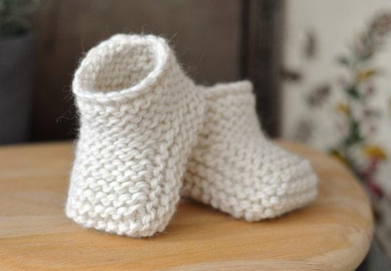 Knitting Pattern Baby Booties Beginner Knitting Tutorial For Etsy