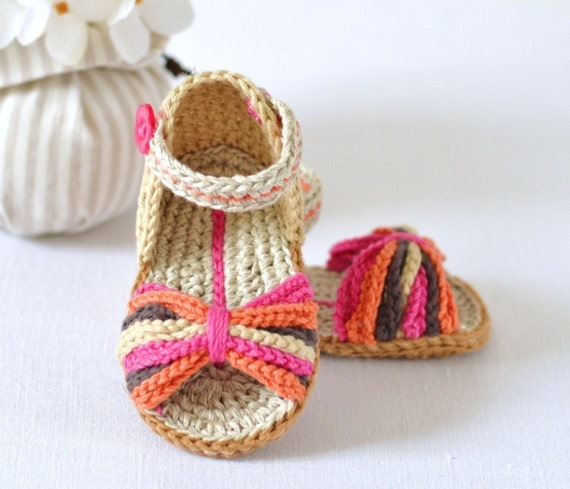 Crochet Pattern Baby Sandals Paris Style Baby Shoes Easy Etsy