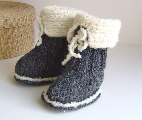 Knitting Pattern Ugg Style Baby Boots Easy Knitting Pattern Etsy