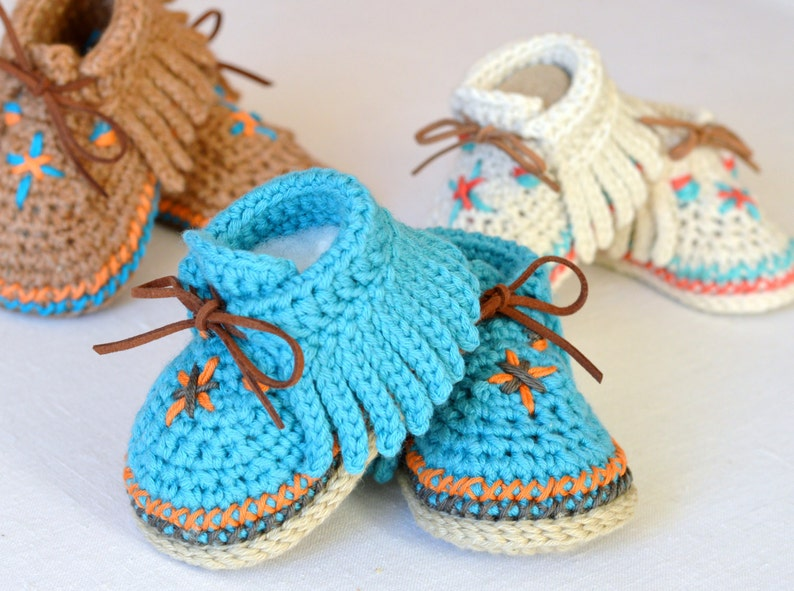 Baby Moccasins CROCHET PATTERN  Easy Instructions image 0