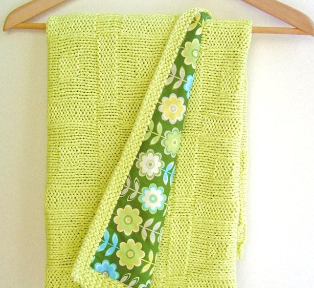 Knitting Pattern Baby Blanket Easy Beginner Baby Blanket Etsy