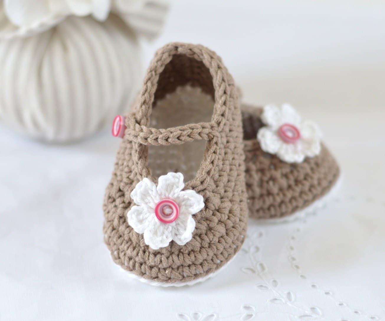 Crochet Pattern Baby Shoes Mary Janes Photo Tutorial Crochet Etsy