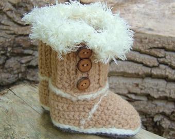 Crochet Pattern BABY Booties Baby Snuggs Instant Download Baby Uggs Crochet Photo Tutorial