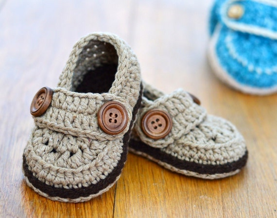 Crochet Pattern Baby Shoes Baby Loafers Easy Crochet Pattern Etsy