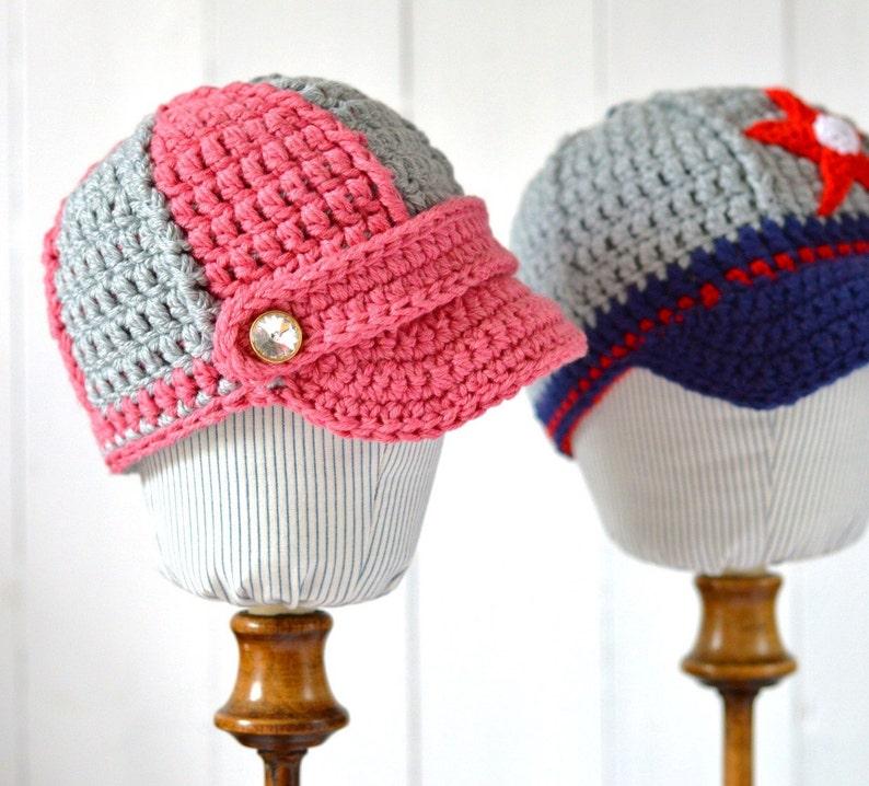 Baby Baseball Cap CROCHET PATTERN easy baby hat pattern 2  3484de490fa