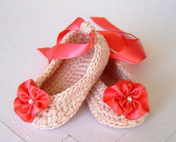 Crochet Pattern Baby Ballerina Slippers Pattern For Baby Etsy