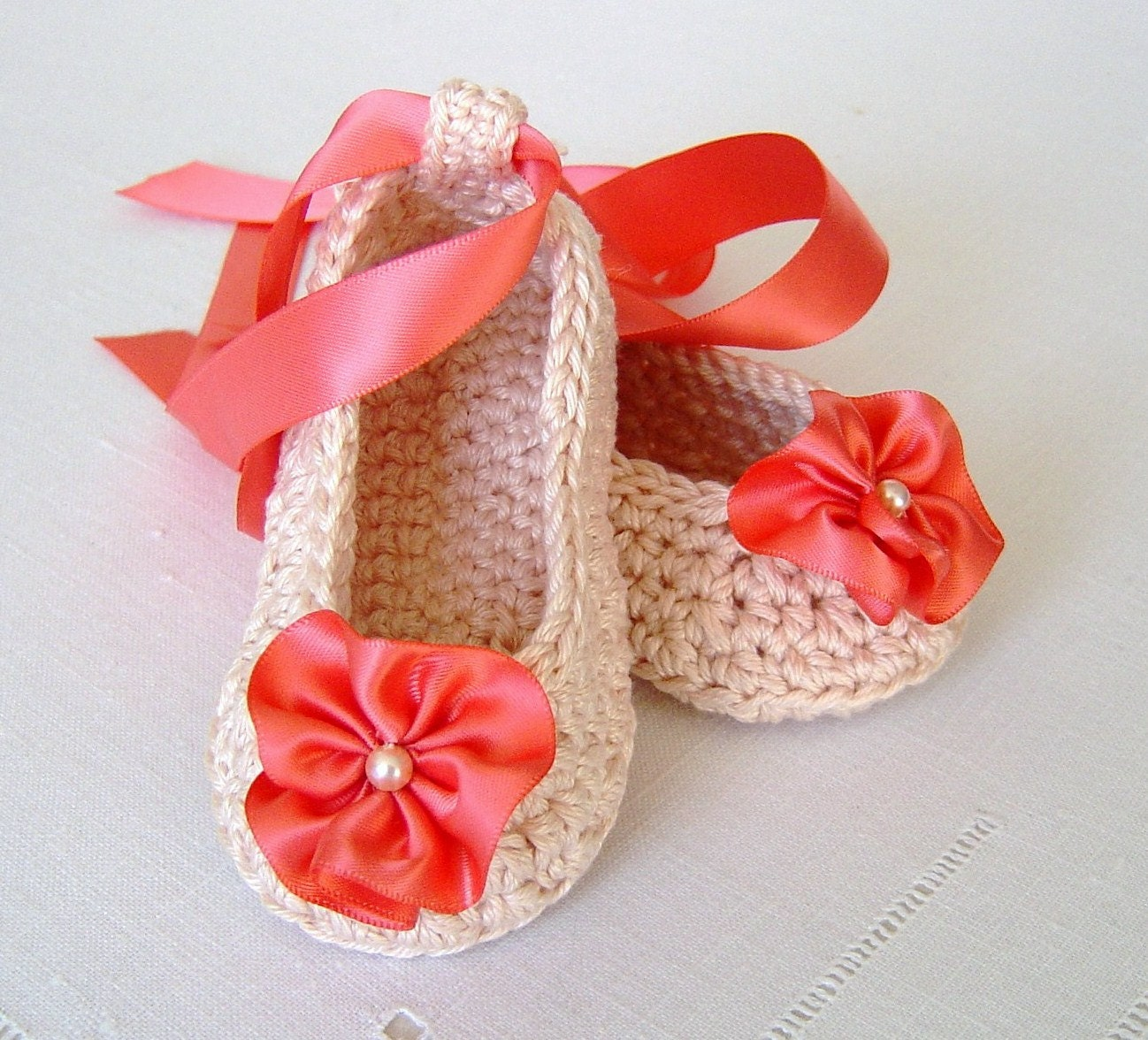 Crochet Pattern Baby Shoes Ballerina Slippers Easy Pattern For Etsy