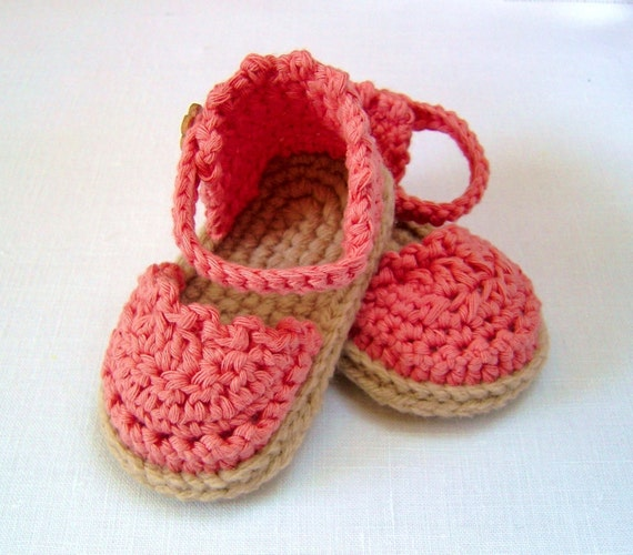 Crochet Pattern Baby Espadrille Sandals Easy Photo Tutorial Etsy