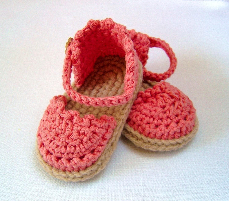 Crochet Pattern Baby Espadrille Sandals Easy Photo Tutorial Etsy