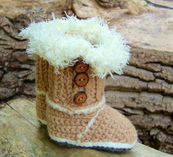 Baby Ugg boots CROCHET PATTERN Mini