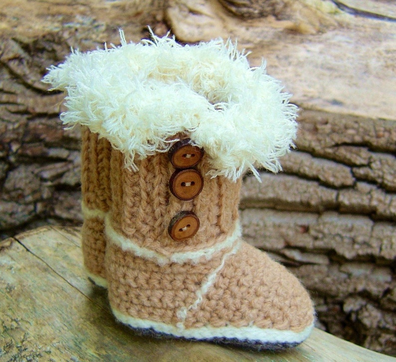 a50ec0a2fbd Baby Ugg boots CROCHET PATTERN Mini Uggs Photo Tutorial Quick and easy  pattern Instant Download Digital File