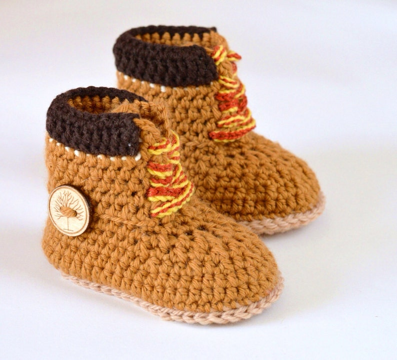 2f722aee113f Baby Timberland Boots CROCHET PATTERN Construction Boots for