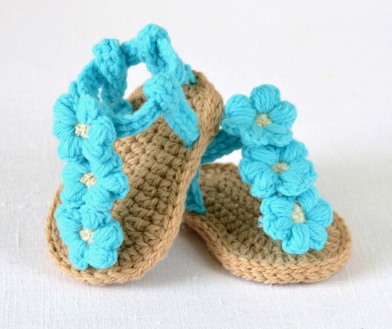 CROCHET Baby Sandals Pattern Easy Crochet Pattern For Baby Etsy Beauteous Crochet Baby Sandals Pattern
