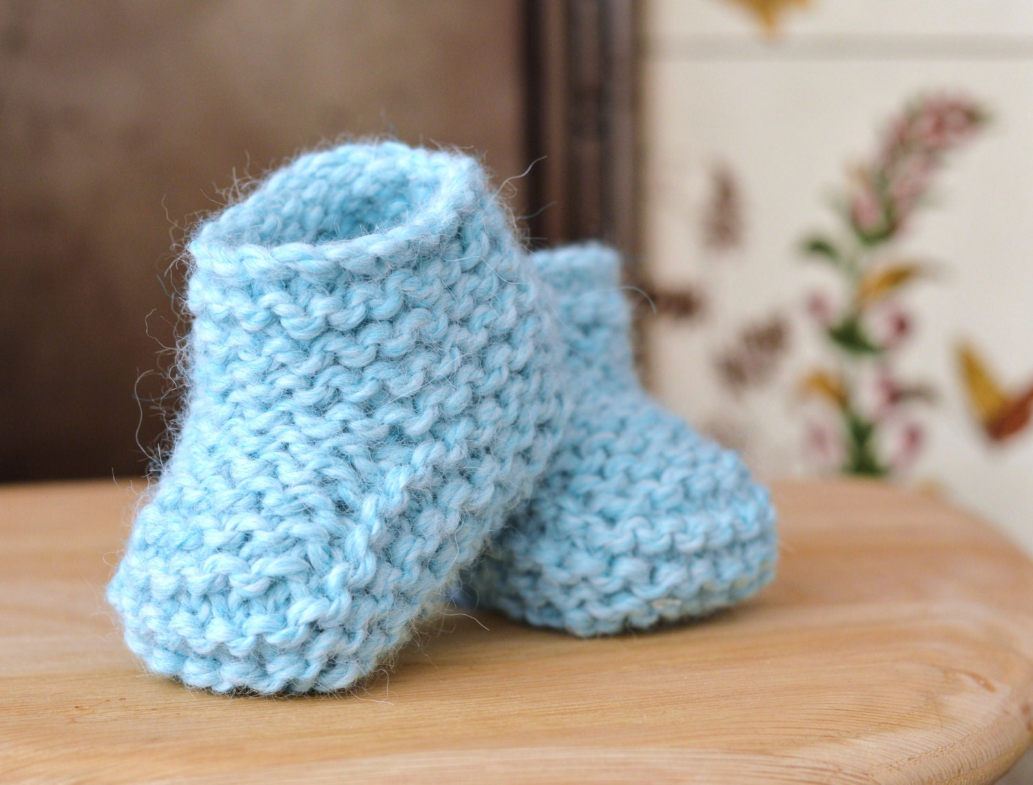 Knitting Pattern Chunky Baby Booties Quick And Easy Beginner A Etsy