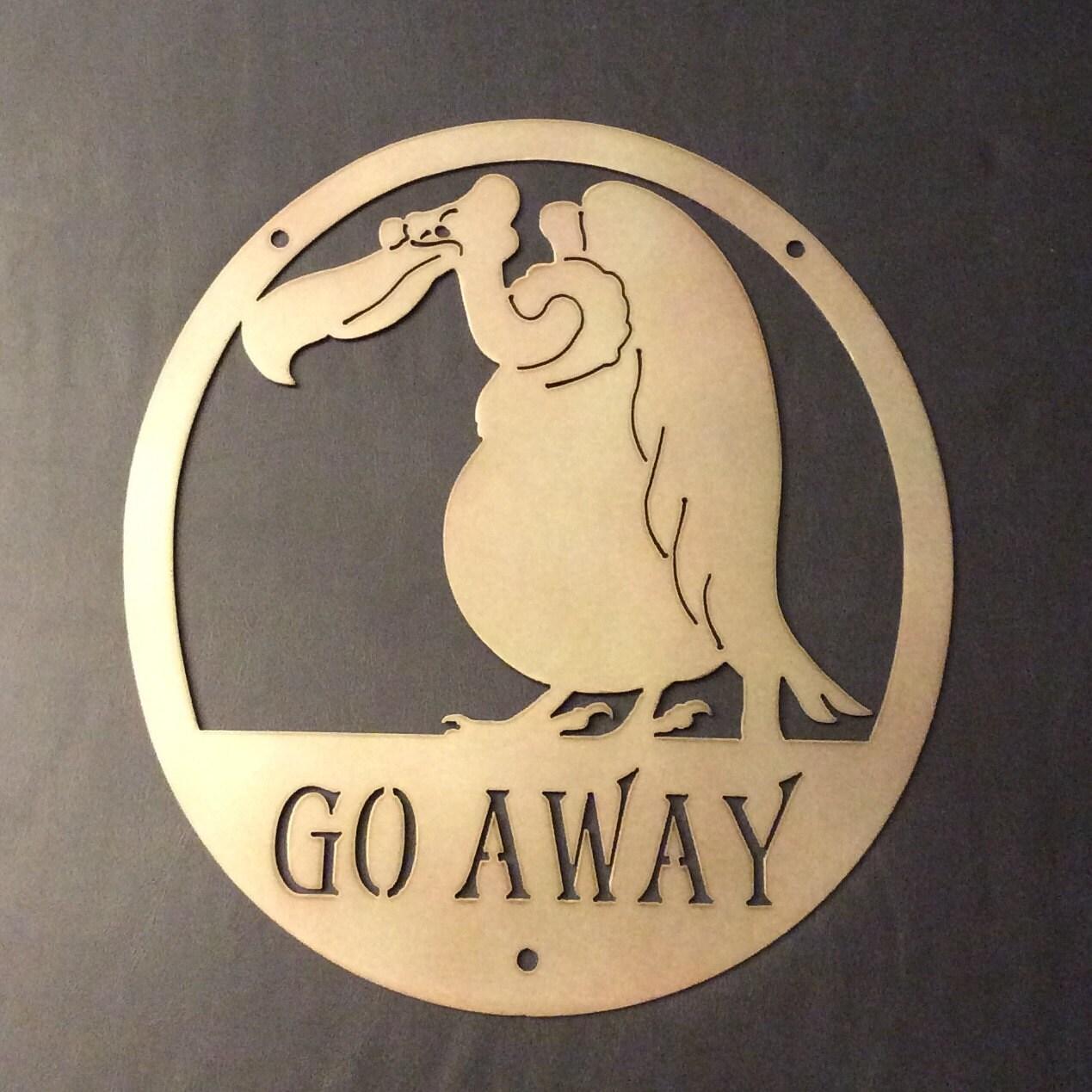 Plasma Cut Vulture GO AWAY Gag Welcome Sign Metal Wall Art | Etsy