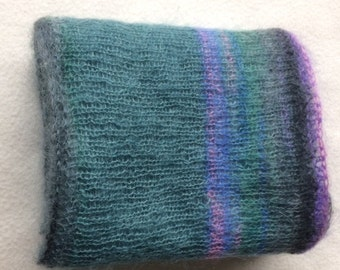 Hand-knitted infinity scarf, soft and beautiful in color. On several ways to wear.
