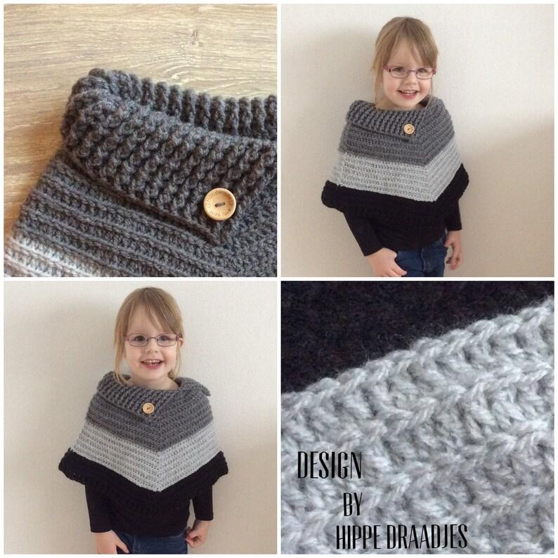 47cec44dd Color Block Capelet Crochet pattern