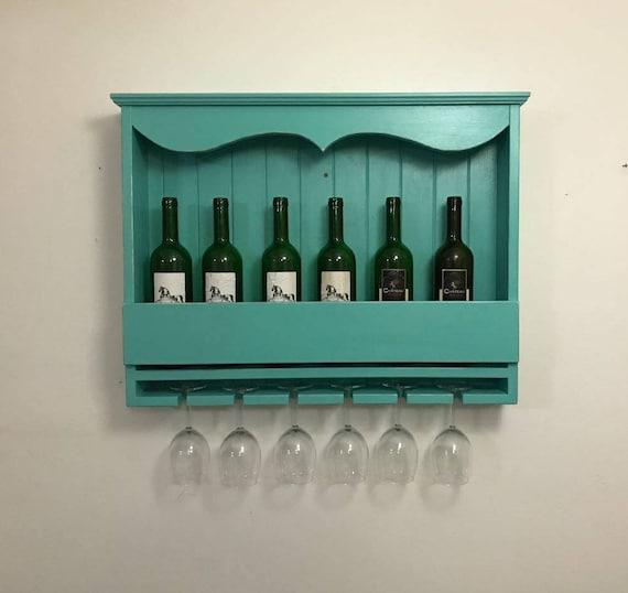 Vintage Weinregal handgefertigte Küche Veranstalter Küche | Etsy