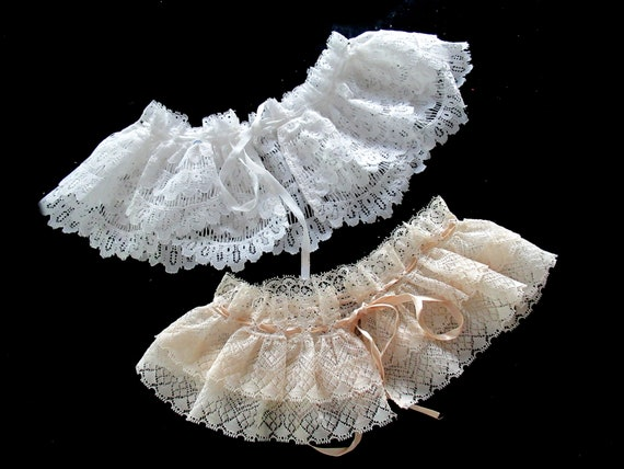 French Detachable Old Lace Collar, Ruffled Lace C… - image 2