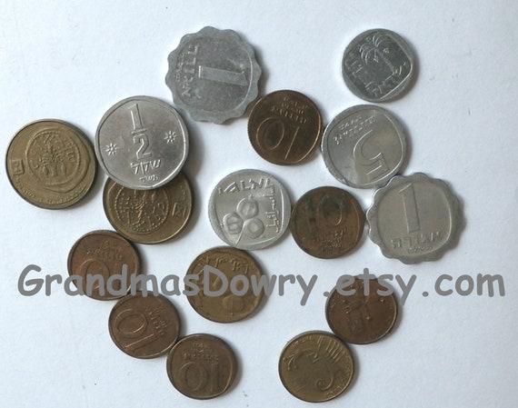 Vintage Israeli One 1 Agora Coin Jerusalem Judaica Jewish Old Holy land Coin