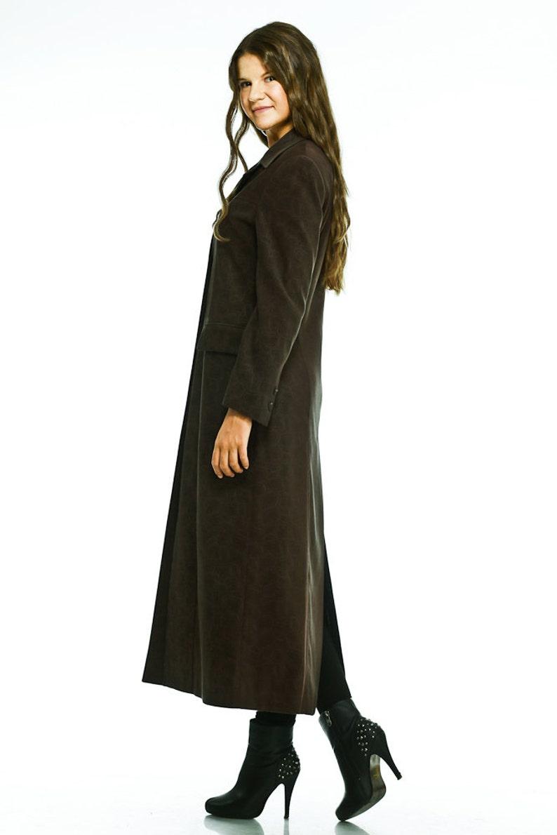 Chocolate Brown Coat by VIEMA V00410 Elegant Long Women/'s Coat