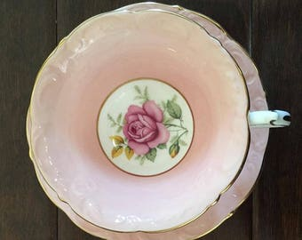 Lovely pink paragon vintage tea cup
