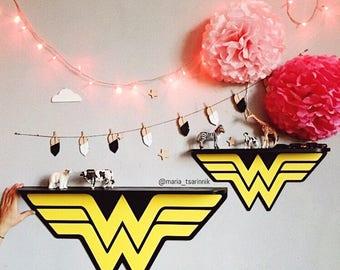 Wooden Shelf Wonder Woman 24 In X 13