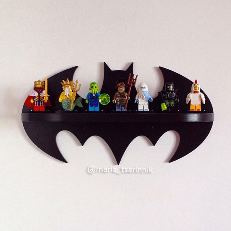 4f2fcf31b9ea Superhéroe Batman de estante de madera logotipo decoración