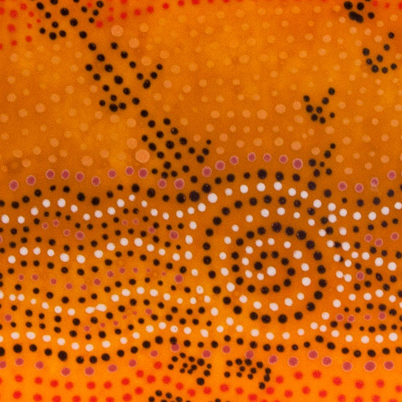 Aboriginal Dot Art Inspired Framed Glass Painting Picture Etsy