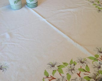 White hibiscus tablecloth