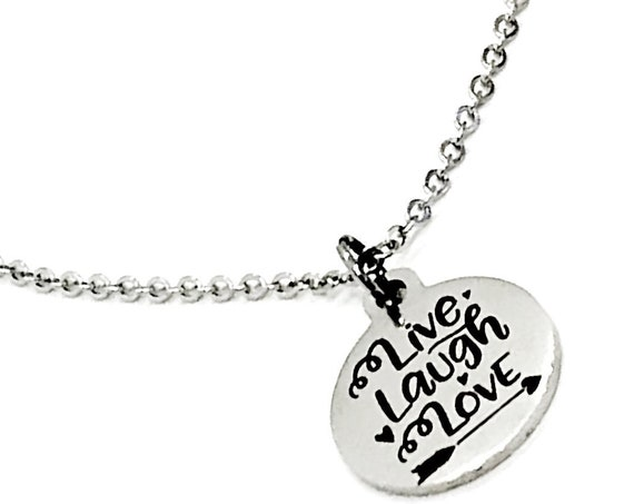Charm Anklet, Live Laugh Love Anklet, Live Laugh Love Charm, Love Gift, Daughter Gift, Wife Gift, Stainless Charm Anklet Gift