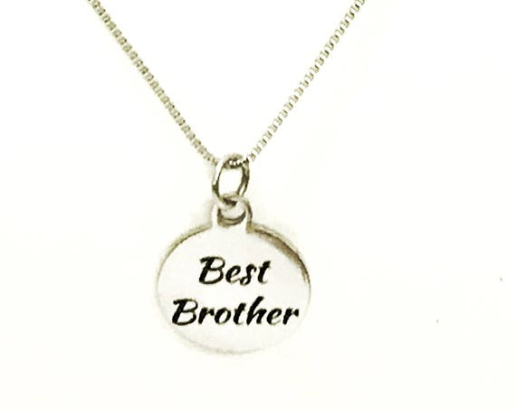 Best Brother Necklace, Stainless Steel Necklace, Gift For Brother, Brother Jewelry, Brother Gift, Best Brother Gifts, Gift From Sister