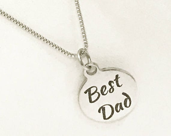 Best Dad Necklace, Stainless Steel Necklace, Gift For Dad, Dad Jewelry, Dad Gift, Gift From Kids, Best Dad Gifts, Gift From Children