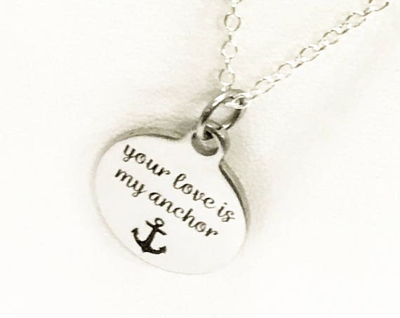 Love Necklace, Your Love Is My Anchor Necklace, Love Gift, Wife Jewelry, Girlfriend Jewelry Gift, Love Jewelry, Your Love Anchor Jewelry